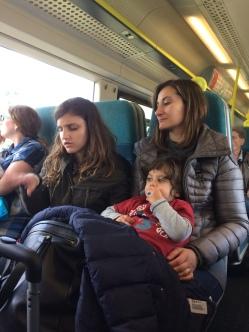 eccoci in treno verso Londra