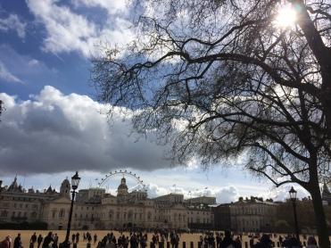 Horse Guards Parade con vista sul London Eye